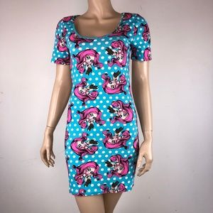 Iron Fist Bodycon Dress Girl Pink Hair Crying